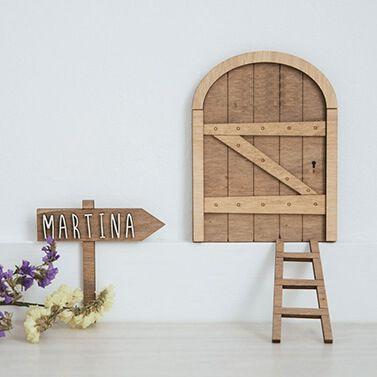 Porte de la petite souris personnalisee en bois